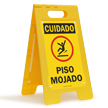 FloorBoss XL™ Spanish OSHA Caution Wet Floor Stand-Up Sign