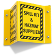 Hazardous Material Projecting Sign