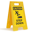 FloorBoss XL™ OSHA Caution Standing Floor Sign