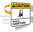 Double Sided ANSI Caution Sign