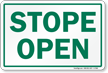 Stope Entrance Sign