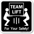 Lifting Instruction Sign