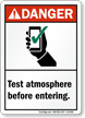 ANSI Danger Confined Space Sign