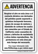 Spanish California Prop 65 Sign