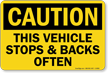 OSHA Caution Truck Sign