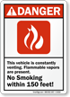 ANSI Danger Combustible Sign
