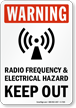 Radio Frequency Warning Sign
