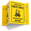 Forklift Projecting Sign