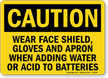 OSHA Caution PPE Faceshield Required Sign