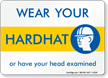 Hardhat Safety Sign
