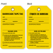2-Sided Bilingual Barricade Tag