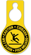 Pear Shaped Bilingual Safety Door Hang Tag