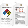 Double-Sided GHS and NFPA Tag