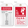 2-Sided Fire Extinguisher Tag