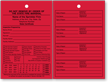 2-Sided Red Florida Fire Sprinkler Inspection Tag