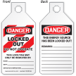 2-Sided OSHA Danger Tab Tag