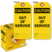 2-Sided OSHA Caution Safety Tag On A Roll