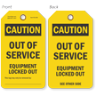 2-Sided OSHA Caution Safety Tag