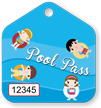 Pool Pass Tag with Consecutive Numbers