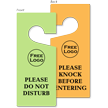 Custom Plastic Door Hang Tag (Double-Sided)
