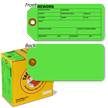 2-Sided Fluorescent Green Cardstock Repair Tag In A Box