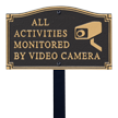 Video Surveillance GardenBoss™ Statement Plaque With Stake