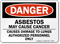 Asbestos May Cause Cancer Danger Sign