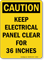 Danger Electrical Panel Clear OSHA Sign