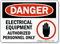 Electrical Equipment Authorized Personnel Only OSHA Danger Sign